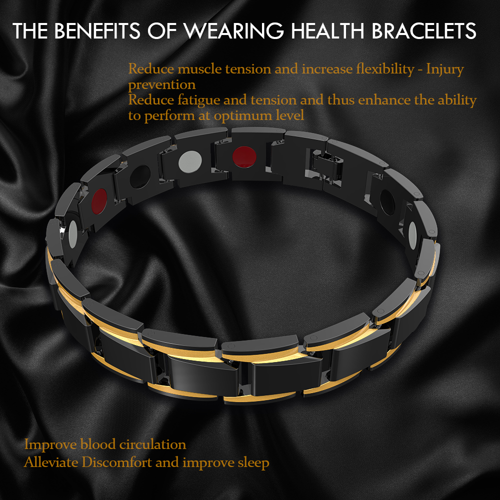 shop Abrray Magnetic Hematite Copper Bracelet Men's Health Bracelets with crypto, pay with bitcoin