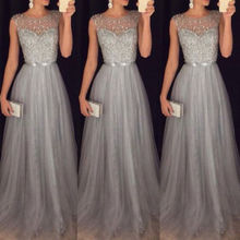 New Lace Floral Maxi Dresses Fashion Sexy Elegant Women Formal Gown Wedding Evening Party Prom Long Dress-in Dresses from Women's Clothing on AliExpress