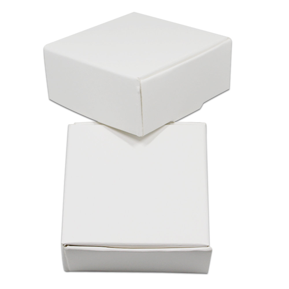 20PCS/ Lot White Cardboard Paper Boxes Blank Kraft Paper Carton Box Folding Handmade Soap Jewelry Party Small Gift Packaging Box