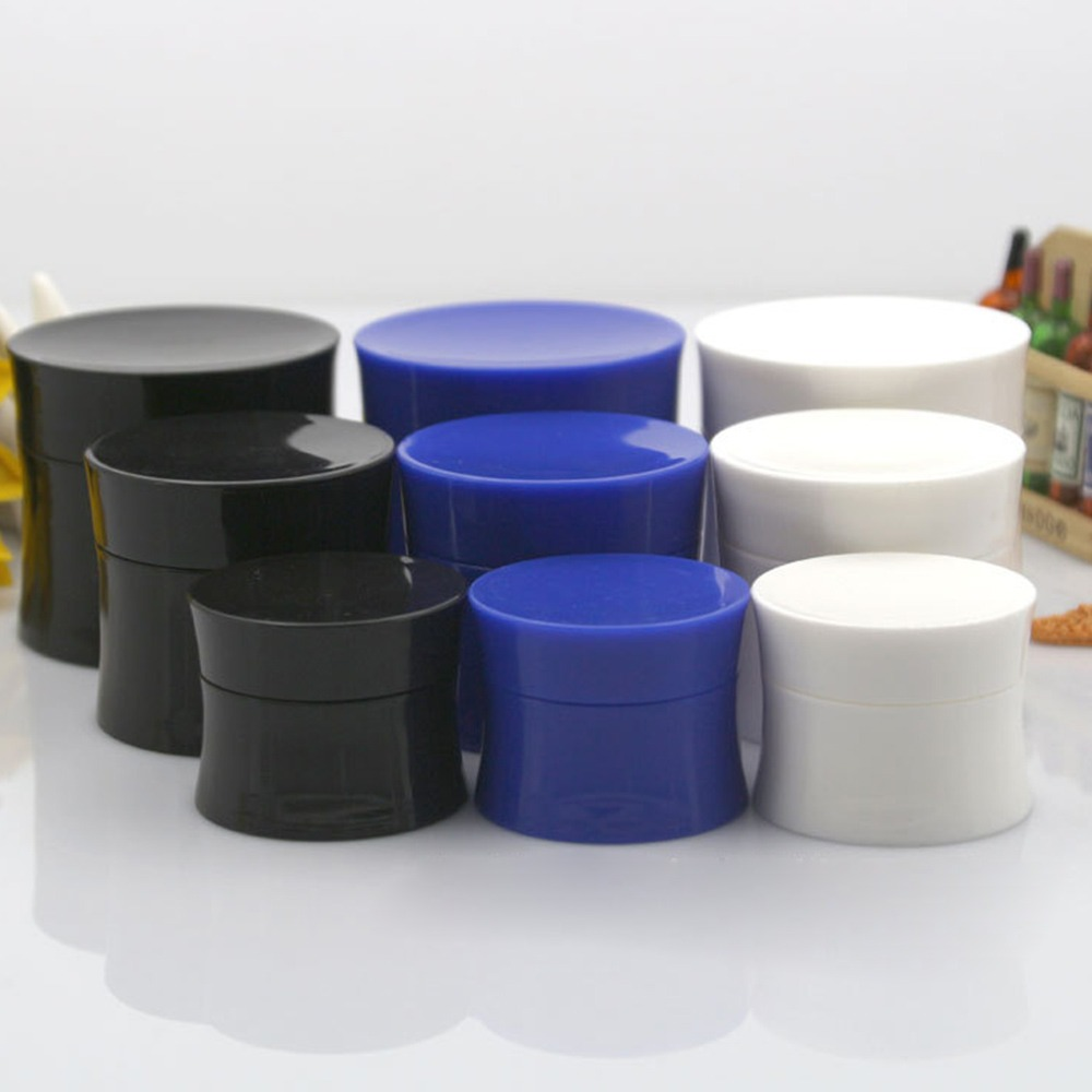 Refillable Bottles Plastic Empty Makeup Jar Pot Travel Face Cream Cosmetic Container Packaging Refillable Bottles 15/30/50g