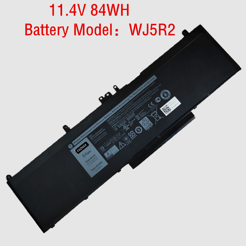 11.4V 84Wh New Original WJ5R2 battery for <font><b>Dell</b></font> Precision <font><b>3510</b></font> 4F5YV Series image