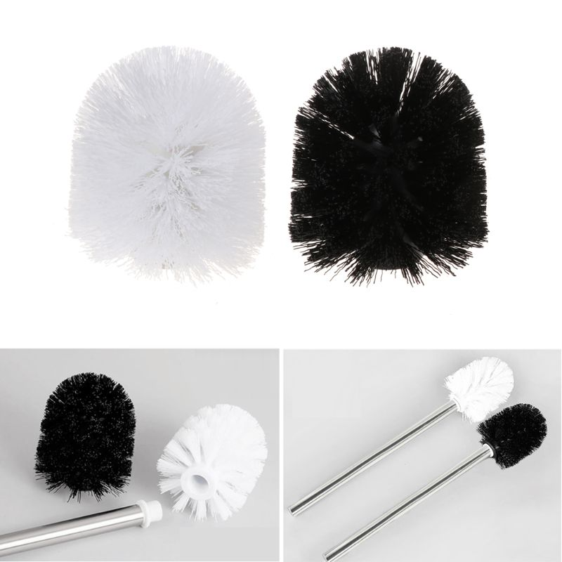 Universal Plastic Toilet Brush Head Replacement White Black Clean Bahroom Tools