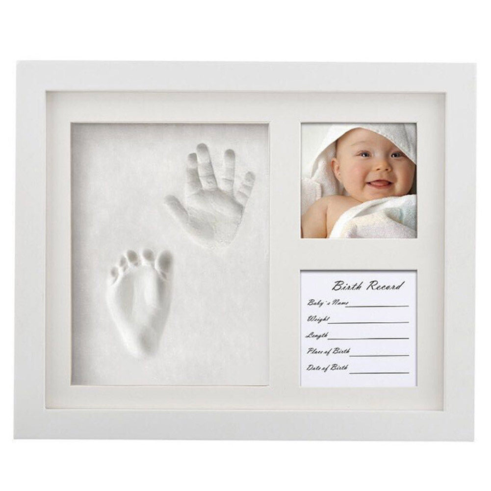 Baby Handprint Kit  NO Mold  Baby Picture Frame, Casting Infant Handprint Kit Souvenirs Imprint Non-toxic Footprint Gifts