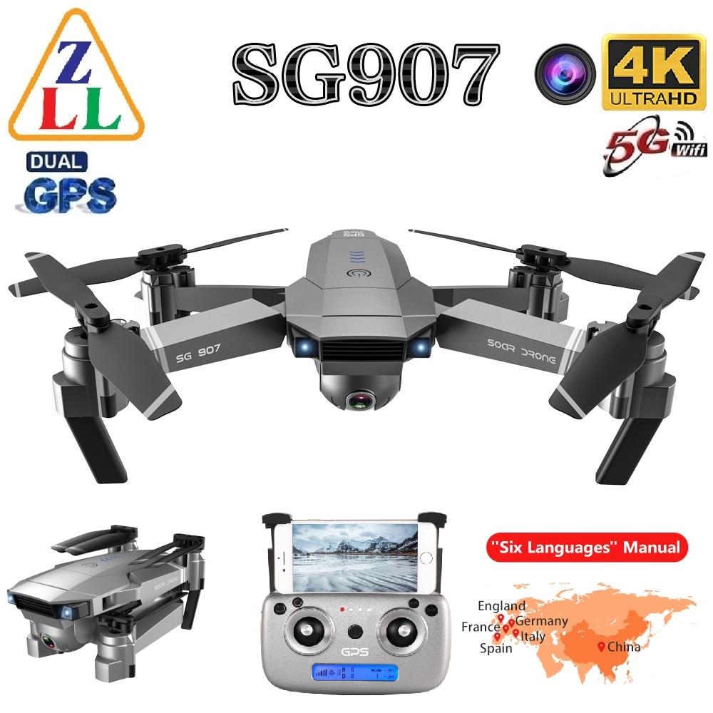 ZLL SG907 GPS drone 4K HD dual camera wide-angle anti-shake WIFI FPV RC foldable four-axis drone professional GPS follow me