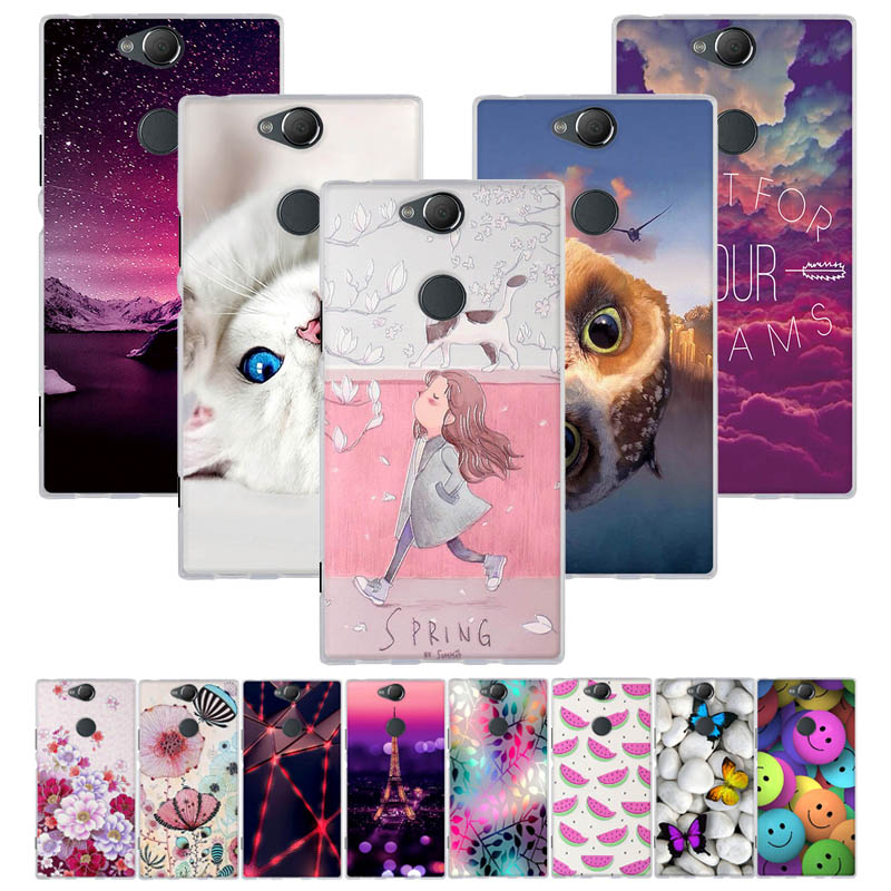 Case For Sony Xperia XA2 Plus Case Cover Silicone Soft TPU 3D Cute Back Cover For Fundas Sony Xperia XA 2 Plus Case Coque Capa