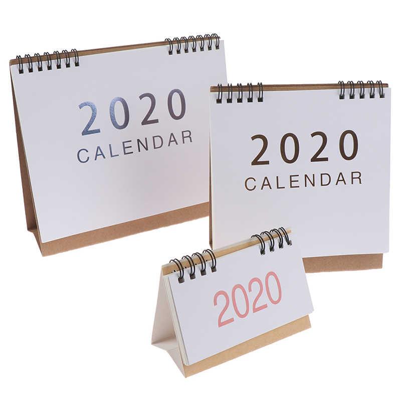 2020 Настольный календарь школьный офис планировщик горячая Распродажа kawaii порядок дня Настольный календарь ежедневный планировщик
