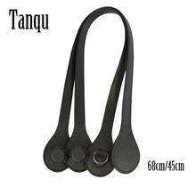 Tanqu Short Long Handle for O Bag with D Buckle Teardrop End Faux Leather Price Handles for OBag Belt Handbag Part
