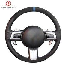 Lqtenleo Zwart Suede Lederen Auto Stuurhoes Voor Mazda MX 5 (Miata) 2006 2014 RX 8 2008 2013 CX 7 2006 2009