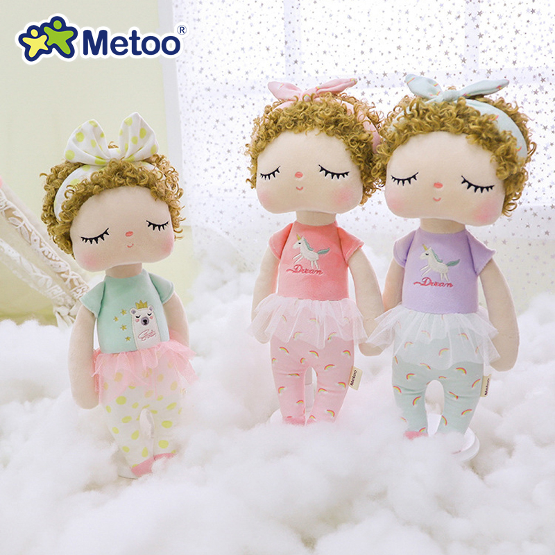 Metoo Doll Plush Toys For Girl Baby Beautiful Cute Angel Angela Soft Stuffed Animals For Kids【Original Boxes】