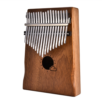 17 Key Kalimba Mbira Calimba African Solid Peach Blossom Thumb Piano Finger Belt Bag Keyboard Malimba