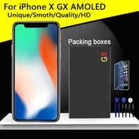 Grado AAA calidad superior para iPhone X GX LCD AMOLED sin Pantalla de píxeles muertos Pantalla táctil 3D reemplazo de Pantalla pantalla LCD de TFT