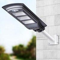 1pc PIR Waterproof IP65 Led Solar Street Light 120W 90W 60W 30W Road Lamp Outdoor LED Streetlight for Plaza Garden Yard