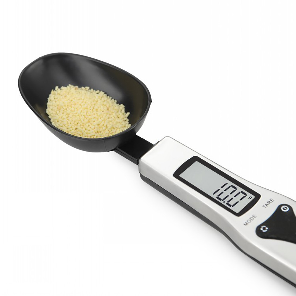 Spoon Scale Digital Kitchen Electronic Precision High-Quality Home Black 500g/0.1g LCD title=