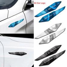 3D нержавеющая сталь, 2 шт., автомобильная эмблема, крыло, боковые декоративные наклейки для BMW M3 M5 E36 E46 E60 E90 E92 X1 F48 X3 X5 X6, аксессуары