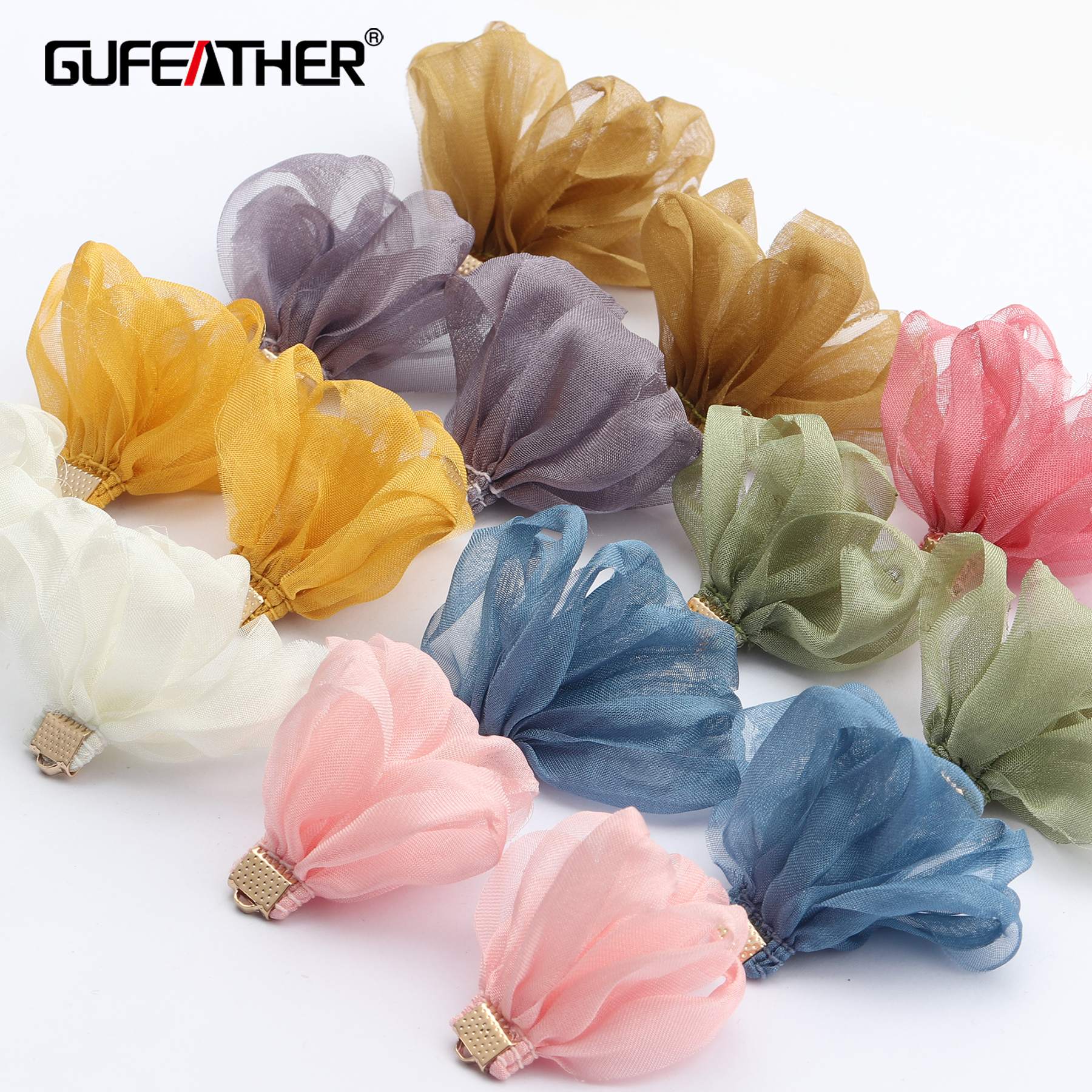 GUFEATHER F147,jewelry Accessories,diy Pendant,flower Shape,hand Made,jewelry Findings,diy Earring,jewelry Making,10pcs/lot