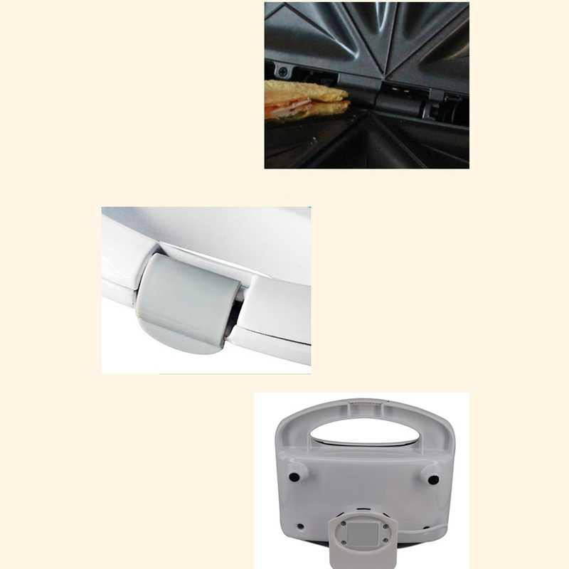 Máquina eléctrica para hacer sándwich de huevo Mini asar Panini platos para hornear tostadora multifunción sin palo Waffle máquina de desayuno EU (EU M Pl-