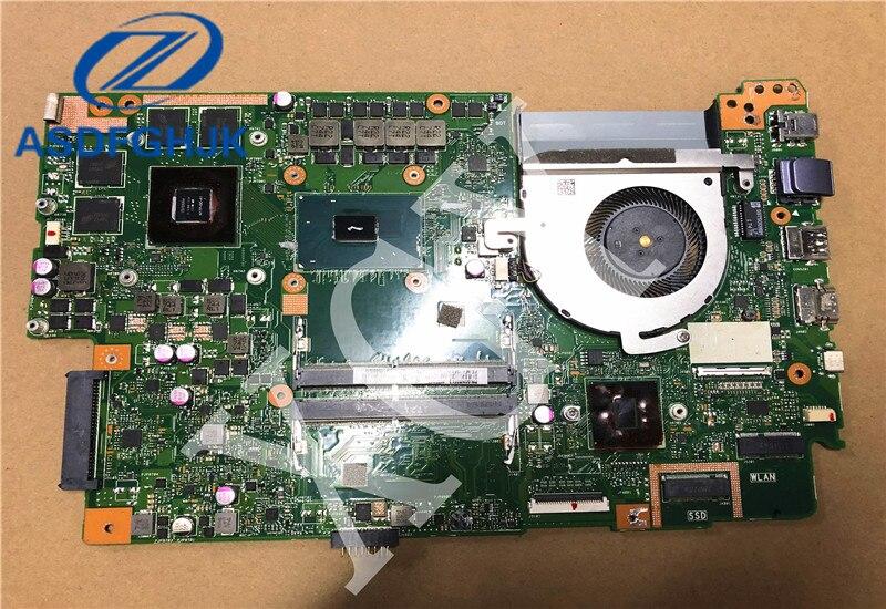Placa base de ordenador portátil para ASUS Flying fortress X580 X580V X580VD placa base Mianboard con GTX 1050 tarjeta gráfica i7-7700HQ cpu