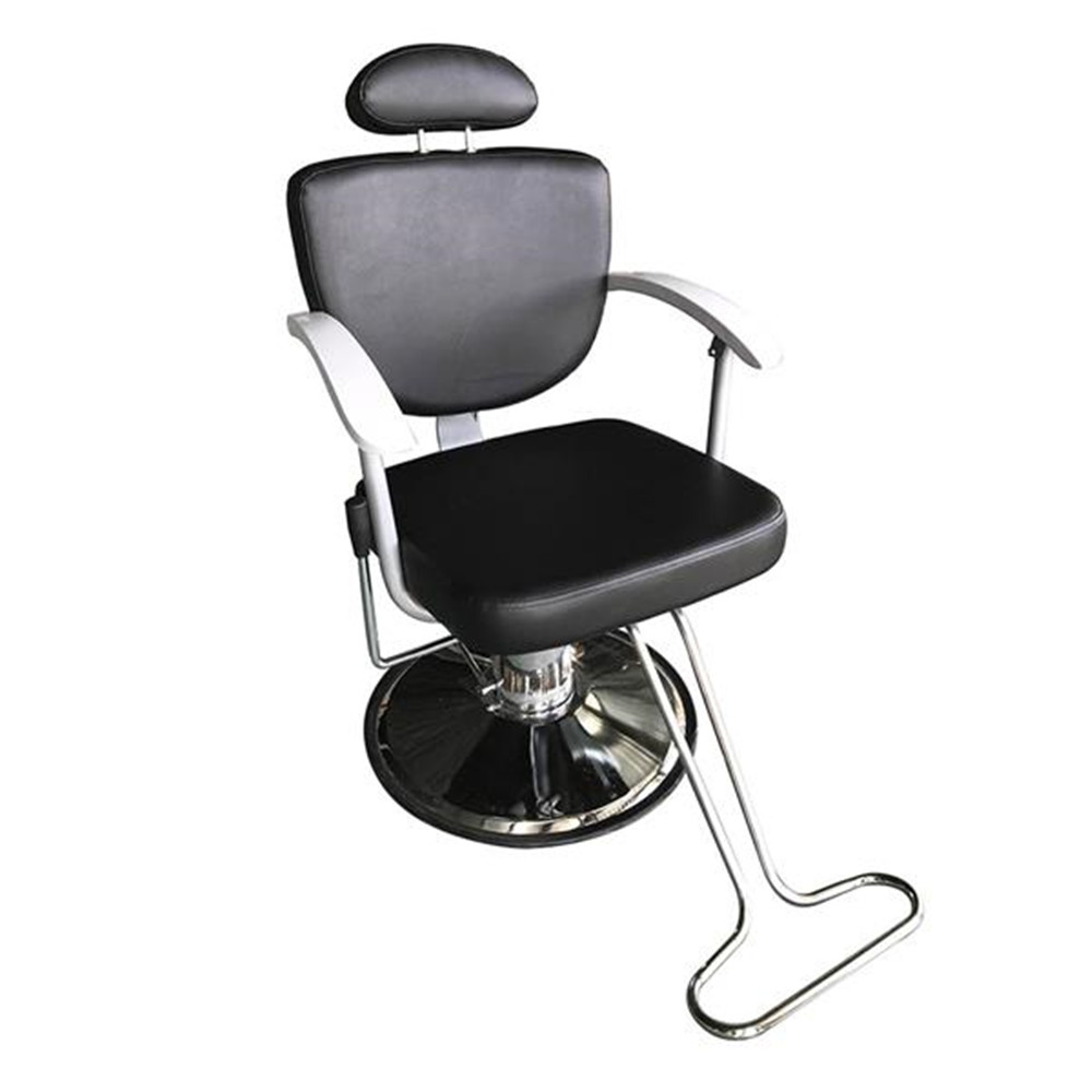 HZ8743 Professional Portable Hydraulic Lift Man Barber Chair Black PVC Leather Comfortable And Professional Barber Chair