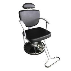HZ8743 profesional portátil elevador hidráulico hombre Barbero silla negro PVC cuero cómodo y profesional Barbero silla