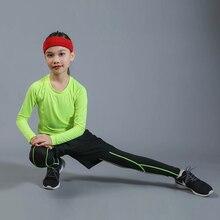 Kids Boxing Compression Set Jersey+ Pants Kids Running Basketball T-shirts Tight Teenage Pants Sportswear MMA Rashguard