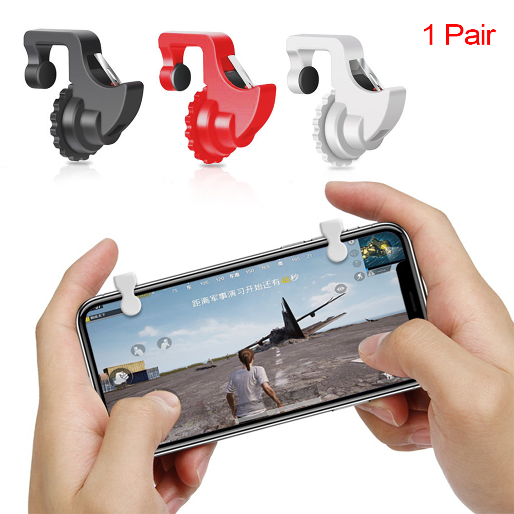 1Pair Smart Phone Games Shooter Game Controller Fire Button Handle Gaming Trigger For PUBG/Rules of Survival/Knives Out~ image
