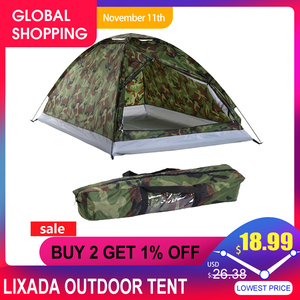 Image 1 - Lixada Outdoor Tent for Winter Fishing Camping Tent Travel for 2 Person Beach Tents for Camping Lightweight Camping Equipment