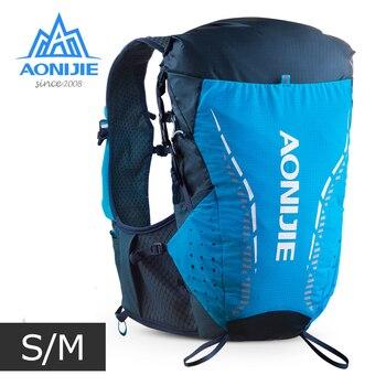 цена на S/M Size AONIJIE C9104  Ultra Vest 18L Hydration Backpack Pack Bag Soft Water Bladder Flask Hiking Trail Running Marathon Race