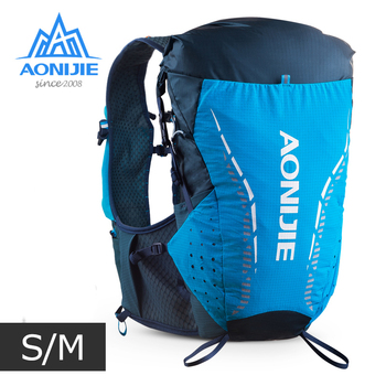 SM Size AONIJIE C9104 New Ultra Vest 18L Hydration Backpack Pack Bag Soft Water Bladder Flask Hiking Trail Running Marathon Race