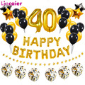 38 шт./компл. 40th с днем рождения шары-цифры 40 лет День рождения украшения для взрослых 40 человек женщина годовщина