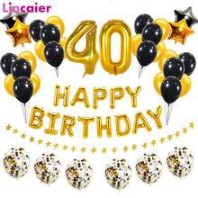 38 pçs/set 40th Balões Do Feliz Aniversario Número 40 Anos de Idade Homem Mulher de Quarenta Aniversário Decorações Da Festa de Aniversário Adulto