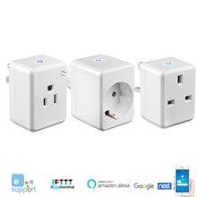 USB Smart Plug UK/UE/Wifi zócalo inteligente de control remoto con puerto Usb funciona con Alexa Google Mini IFTTT No se necesita Hub