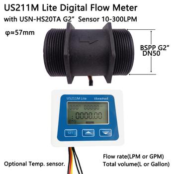 US211M Lite USN-HS20TA 10-300L min 2 #8222 cyfrowy miernik przepływu czytnik przepływu kompatybilny ze wszystkimi naszymi efekt halla czujnik przepływu wody tanie i dobre opinie Ultisolar CN (pochodzenie) Hydraulika US211M Lite HS20TA Mężczyzna BSPP Gwint
