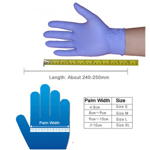 Image 4 - 100 יח\קופסא Nitrile כפפות עמיד למים חד פעמי עבור קעקוע רופא שיניים מזון תהליך ניקוי ידיים הגנה לעבוד כפפות
