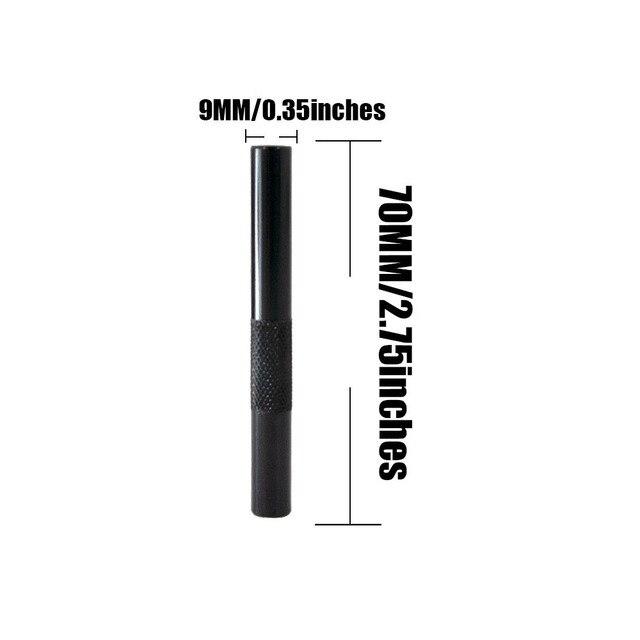 3PCS/lot 70mm Metal Snuff Snorter Hose Tube Sniffer Aluminum Pen Style Snuff Snorter Dispenser  Smoke Pipe Accessories