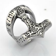 Кольцо молота Викинга Тора Модные аксессуары Ювелирные изделия
