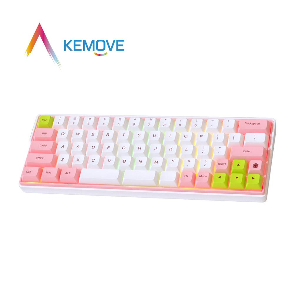 KEMOVE RGB Mechanical Keyboard Gaming Backlight PBT Sublimation <font><b>Keycap</b></font> Gateron Optical Switch <font><b>64</b></font>/66 Key Bluetooth Hot Swappable image