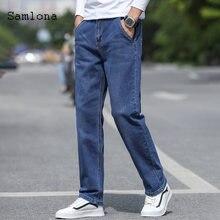 Samlona джинсы мужские модные обтягивающие джинсовые брюки 2020
