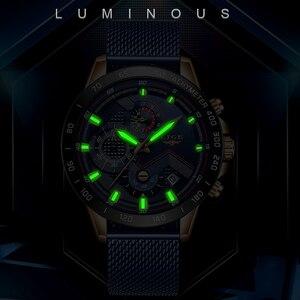 Image 4 - 2020New Mens Watches LIGE Top Brand Luxury WristWatch Quartz Clock Blue Watch Men Waterproof Sport Chronograph Relogio Masculino