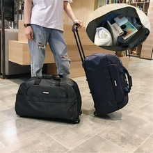 2021 New Travel Duffle Luggage Trolley Bag With Wheels Rolling Suitcase High Capacity Men Travel Bags Carry-On Bag 4 Colors