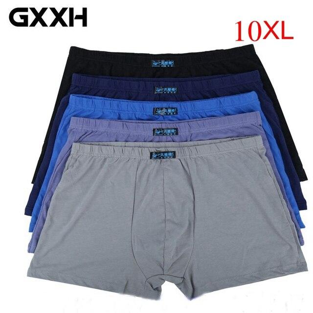 Ropa interior de algodón para hombre, lote de calzoncillos bóxer de talla grande, ropa interior transpirable, talla grande 8xl, 9xl, 10xl