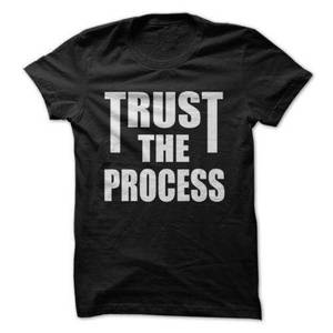 TRUST THE PROCESS WEIGHTLIFTIN GYM *OLDSKOOL CUSTOM ARTWORK* Shirt *FULL FRONT*(China)