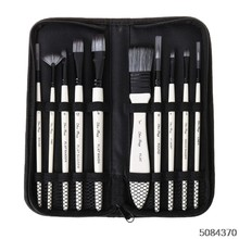 10pcs Paint Brushes Nylon Hair Watercolor Gouache Paintbrushes Painting Tool(China)