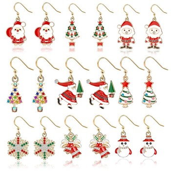Christmas Drop Earrings For Women Cartoon Shape Cute Dangle Earring Creative Personality Jewelry Christmas Party Accessories artificial leather leopard dangle earrings teardrop earrings women creative alloy water drop earring female jewelry accessories