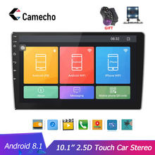 Camecho Autoradio 2 din HD 10,1 ''pantalla táctil Android Bluetooth reproductor de Radio para coche GPS WiFi cámara de visión trasera MP5 reproductor Multimidio(China)