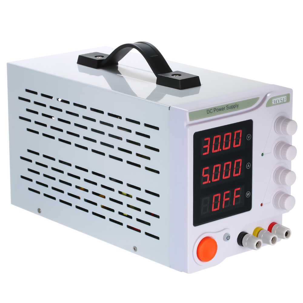 Mini regulowany Regulator napięcia zasilania 30V 5A DC 4 cyfry wyświetlacz LED wysoka precyzja zasilania przełączania zasilania 305F