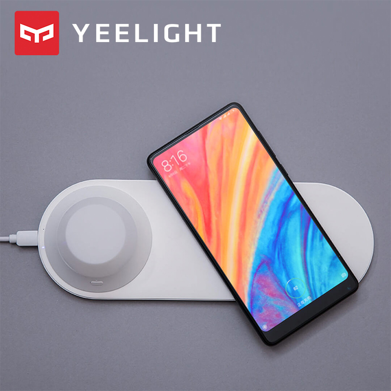 Image 3 - Yeelight Wireless Charger with LED Night Light Magnetic Attraction Fast Charging For iPhones Samsung Huawei phonesSmart Remote Control   -