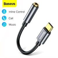 Baseus USB Typ C zu 3,5mm Aux Adapter USBC zu 3,5mm Kopfhörer Audio Adapter Für Huawei Xiaomi Oneplus typ-C 3,5 Jack OTG Kabel