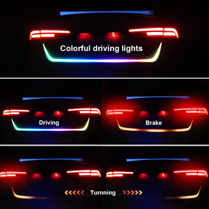 FORAUTO 1.2m 12V Car Rear Trunk Tail Light Dynamic Streamer Reverse Warning Light Brake Turn Signal Lamp Car LED Strip