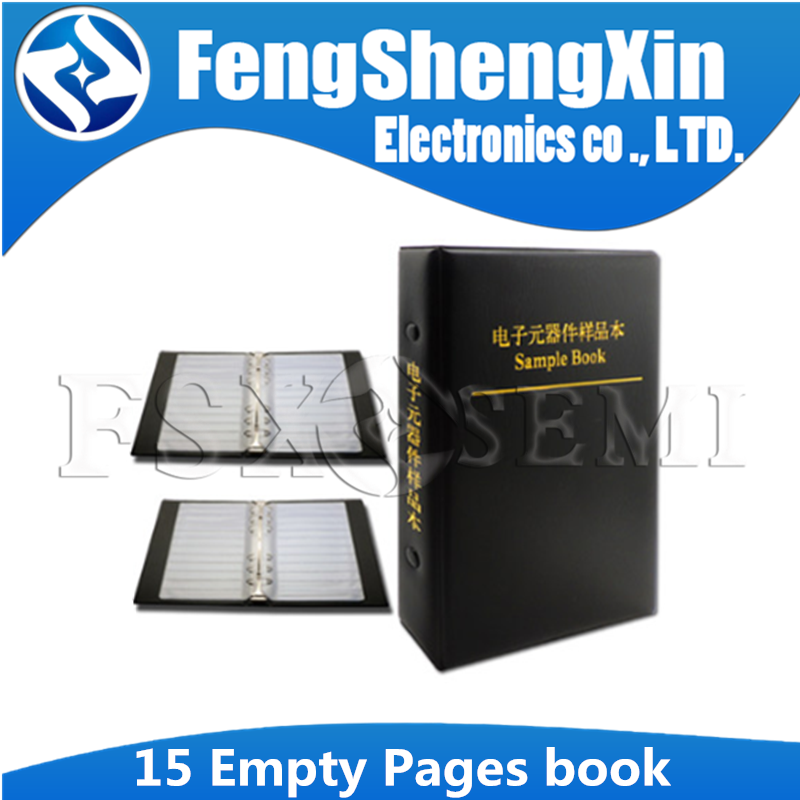 Резистор конденсатор индуктор IC SMD компоненты пустая книга образцов для 0402/0603/0805/1206 электронных компонентов с 15 пустыми страницами