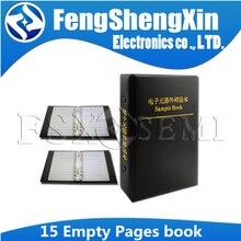 Resistor capacitor indutor ic smd componentes vazios da amostra livro para 0402/0603/0805/1206 componente eletrônico com 15 vazio páginas páginas